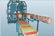 Брусующий вертикальный ленточнопильный станок Авангард ЛП-80-2Б-К Авангард Брусовальные Дисковые пилорамы
