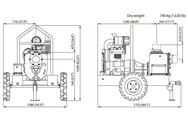 VARISCO JD 6-250 G10 FVM06 TRAILER дизельная грязевая мотопомпа Varisco Дизельные Мотопомпы