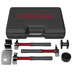 Сорокин 6.107 Рихтовочный набор молотков и поддержек 7 предметов Сорокин Правка кузовов Сервисное оборудование